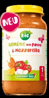 Gemüse mit Pasta & Mozarella