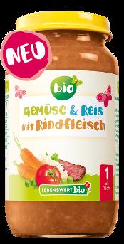 Gemüse & Reis mit Rindfleisch