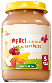 Apfel, Banane & Aprikose